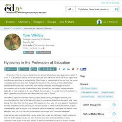 Hypocrisy in the Profession of Education