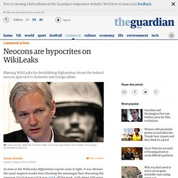 Neocons are hypocrites on WikiLeaks