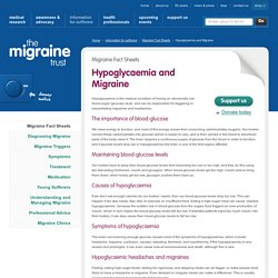 Hypoglycaemia and Migraine