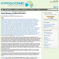 Hypoglycemic Health Association of Australia - Silent Diseases and Mood Disorders