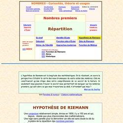 hypothèse de Riemann