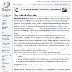Hypothèse de simulation