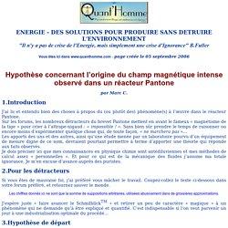 Hypothèse Marc C sur systèmes Pantone