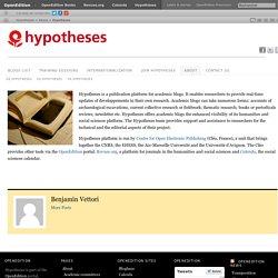 7 – Hypotheses, le site des carnets de recherche