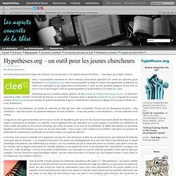 Hypothèses.org – un outil pour les jeunes chercheurs