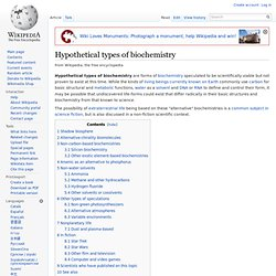 Hypothetical types of biochemistry