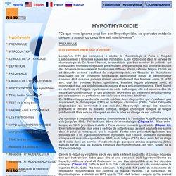 hypothyroïdie, préambule