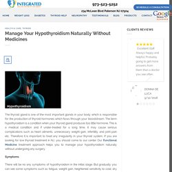 Manage Your Hypothyroidism Naturally Without Medicines - Integrated Health Center of NJ
