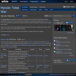 Hyrule Historia - Hyrule Total War Wiki