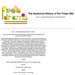 THE HYSTERICAL HISTORY OF TROY (a free comedy play script from freedrama.net)