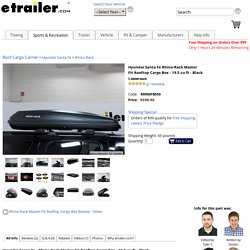 Hyundai Santa Fe Rhino-Rack Master Fit Rooftop Cargo Box - 19.5 cu ft - Black