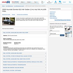 2,009 Hyundai Sonata Technical Service Bulletins