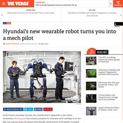 Hyundai's new wearable robot turns you into a mech pilot