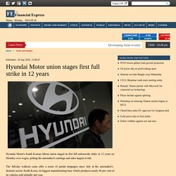 Hyundai workers go on strike