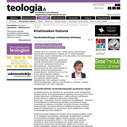 Hyväntekeväisyys varhaisessa kirkossa - Teologia.fi