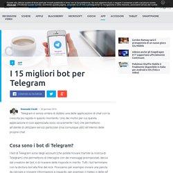 I 15 migliori bot per Telegram