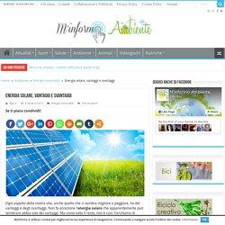 I pro dell'energia solare