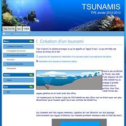 I. Création d'un tsunami - TSUNAMIS