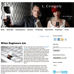 When Engineers Lie - Cringely on technology (Build 20110413222027)