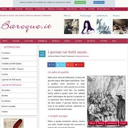 I giornali nel XVIII secolo