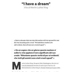 """""""I have a dream"""" di Riccardo Giove"""