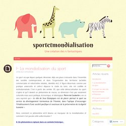 I- La mondialisation du sport