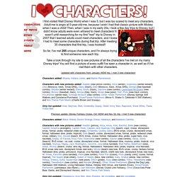 I Love Characters!