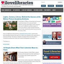 I Love Libraries - News, Issues, Legislation, Careers & Advocacy for America's Libraries