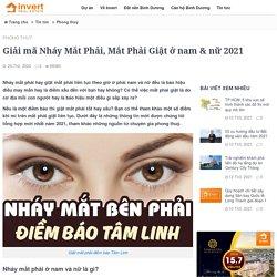 Điềm báo Nháy Mắt Phải, Mắt Phải Giật ở nam & nữ 2021