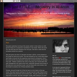 I'm just F.I.N.E.-- Recovery in Al-Anon