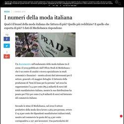I numeri della moda italiana