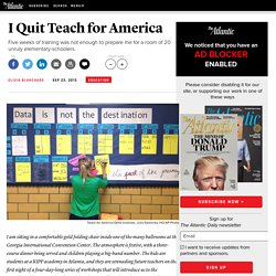I Quit Teach for America - Olivia Blanchard