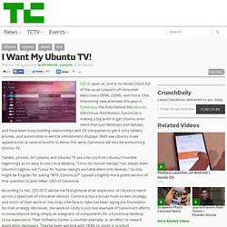 I Want My Ubuntu TV!