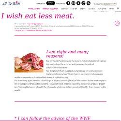 Je voeu manger moins de viande