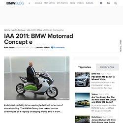 IAA 2011: BMW Motorrad Concept e