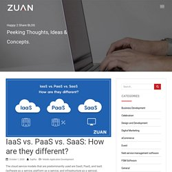 IaaS vs. PaaS vs. SaaS: How are they different?