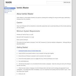 Iambic Master - NA0N