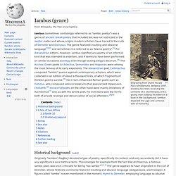 Iambus (genre)