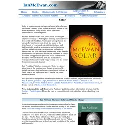 Ian McEwan Website: Solar