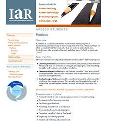 IAR: Assess students > Portfolio