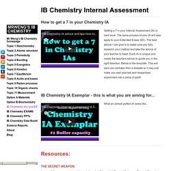 IB Chemistry IA and EE - MrWeng's IB Chemistry