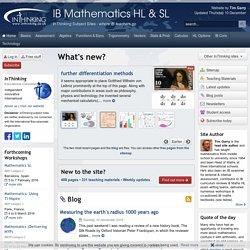 IB Mathematics HL & SL