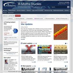 IB Maths Studies