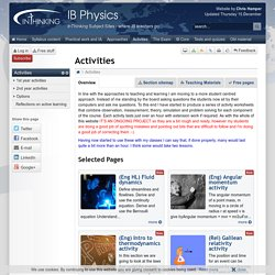 IB Physics: Activities