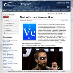 IB Physics: Start with the misconception