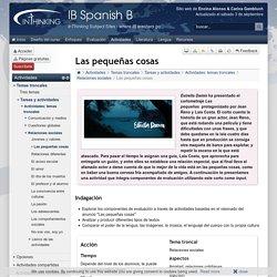 IB Spanish B: Las pequeñas cosas