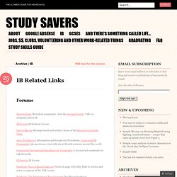 IB « Study Savers