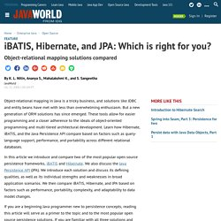 iBATIS, Hibernate, and JPA: Which is right for you?