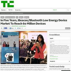 In Five Years, iBeacon/Bluetooth Low Energy Device Market To Reach 60 Million Devices
