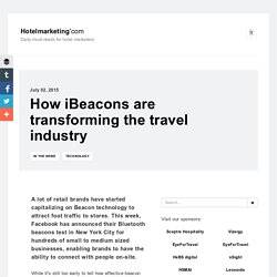How iBeacons are transforming the travel industry